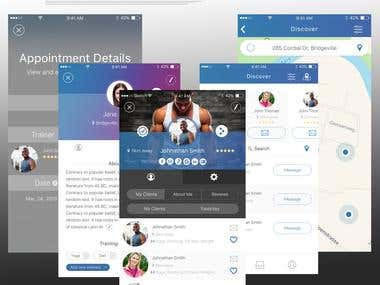 NDA Protected App for Personal Trainers and Trainees
