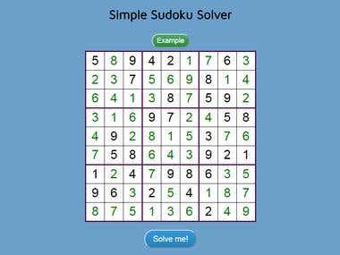 Simple Sudoku Solver