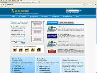 Bizkingdom - Business Buy Sell, Vendors, Brokers website