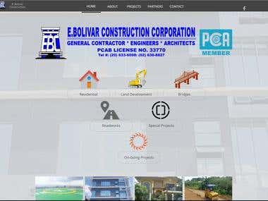 E. Bolivar Construction Website