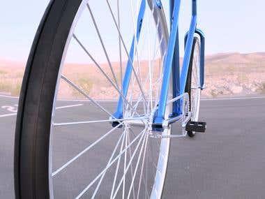 Classic Fixed Gear Bike Renders