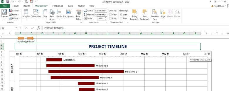 excel vba project timeline freelancer