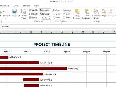 Excel VBA - Project Timeline