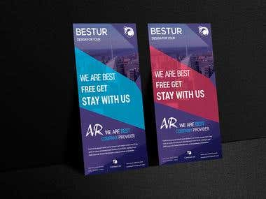 Rack Card & Roll Up Banner