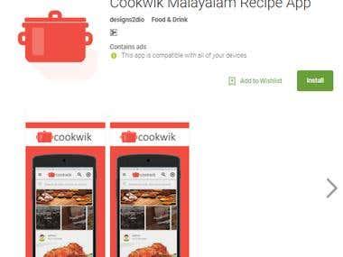 Cookwik Malayalam Recipe App