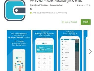 PAYWiX - B2B Recharge & Bills