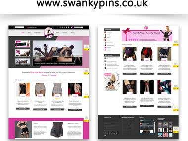 www.swankypins.co.uk | Ecommerce Website | Mobile Responsive