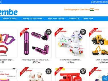 Geembe online shopping cart from Spain