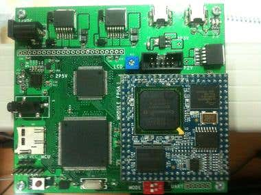 Project include FPGA and STM32F4