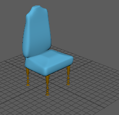 chair made in maya