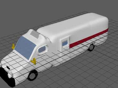 ambulance model made in maya