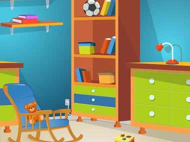 """Room Background for """"POFY"""" Android Game - KGSG Software"""