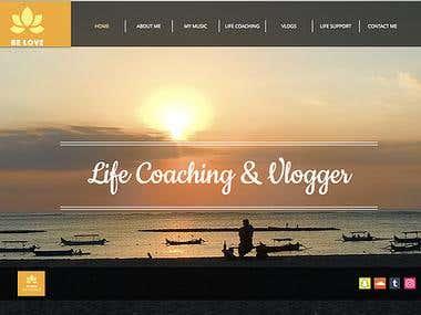 Life Coaching / Vlogging Website Creation & SEO