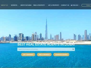 Luxiero real estate Website English Content