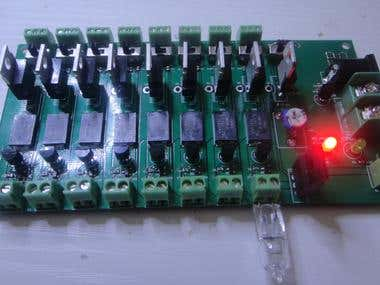 Load control switch with 8-channels