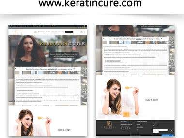 www.keratincure.com | Wordpress | Ecommerce