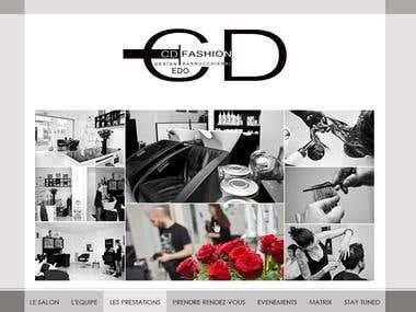 Design for Website for beauty salon
