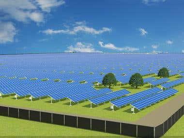 Solar Plant 3D Model