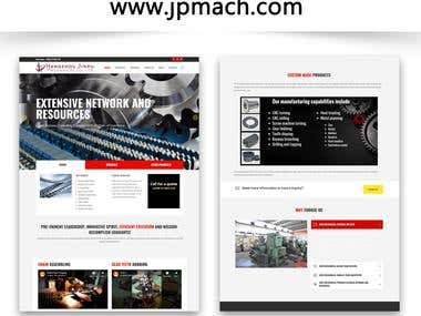 www.jpmach.com | Wordpress Website