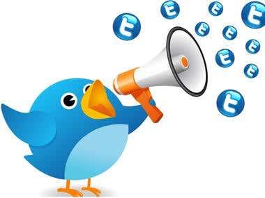 tweet your message to 500,000 members