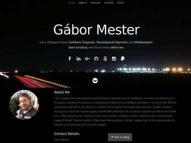 My resume site
