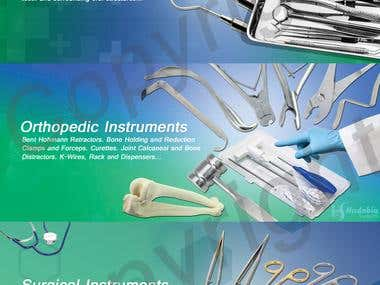 Medical Instrument Website Banners