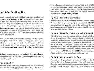 Top 10 car Detailing tips