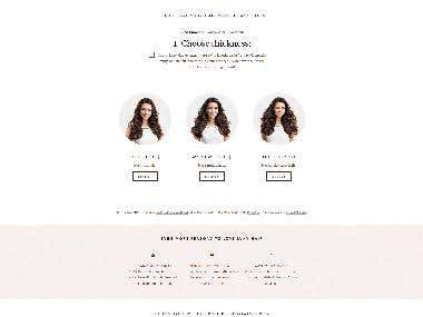 Luxury hair e-shop