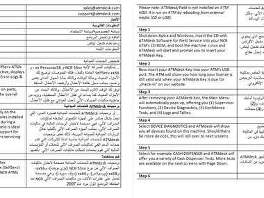 English to Arabic translation (Saudi)