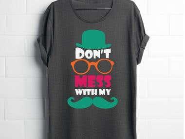 Cool Mustache T-shirt Design