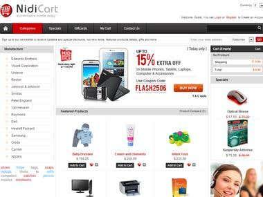 NidiCart - Ecommerce