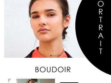 Website mokeup of Makeup artist Hair stylist.