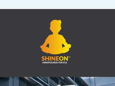 ShineOn Mindfulness logo design