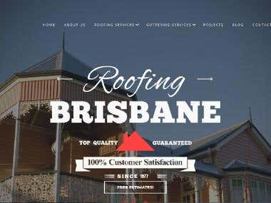Roofing and Guttering Services Website