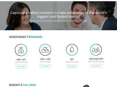 Investing Management Website