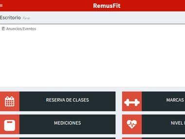 WebApp Remus fitness