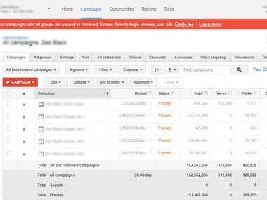 Adwords Setup with Search Ad, Display Ad and Video Ad