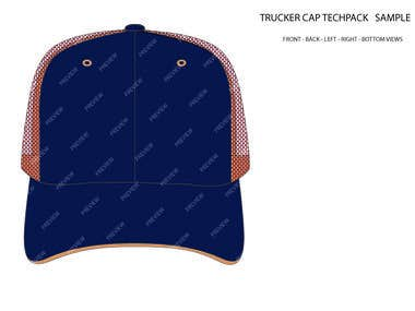 Trucker Cap Techpack Vector Techpack