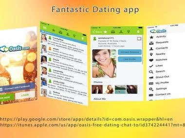 Oasis Dating - Android application