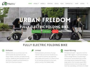 yikebike - website development and design