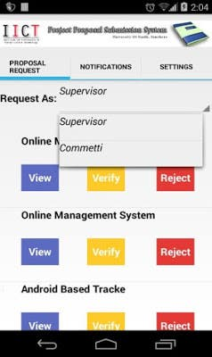 Proposal Submission System Web and Android Application