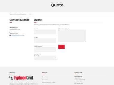 Typhoon Civil Website