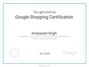 Google Shopping Certification - 2018
