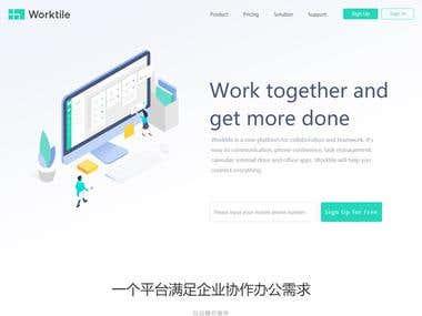 Worktile(AngularJS + Bootstrap + NodeJS)