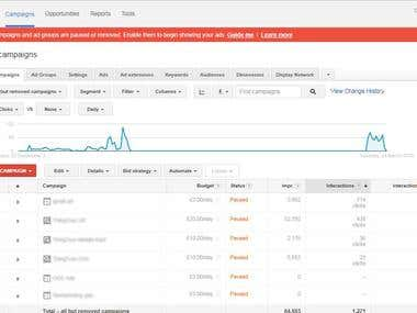 Google Adwords Gmail, Search Ad and Display Ad for UK Client