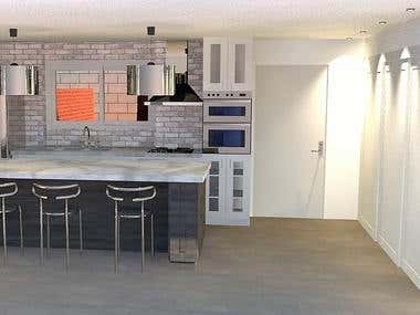 Design and project of a kitchen