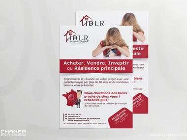 Flyer pour l'agence Immobilière IDLR