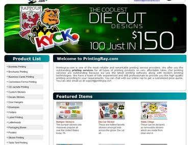 We Designing of www.PrintingRay.com
