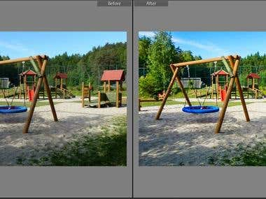 Photograph Enhancement and correction