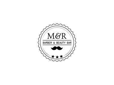 M&R Barbar & Beauty Bar Logo
